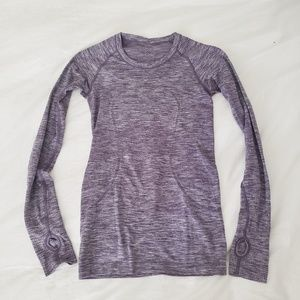 Lululemon Swiftly Tech long sleeve purple top